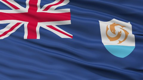 Close Up Waving National Flag of Anguilla - stock footage