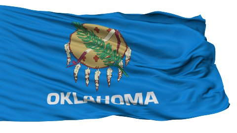 Isolated Waving National Flag of Oklahoma - stock footage