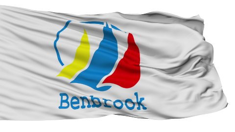 Isolated Waving National Flag of BenBrook City - stock footage