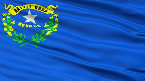Close Up Waving National Flag of Nevada - stock footage