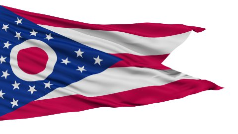 Isolated Waving National Flag of Ohio - stock footage