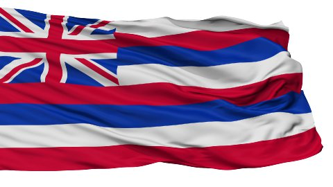 Isolated Waving National Flag of Hawaii - stock footage