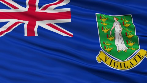 Close Up Waving National Flag of British Virgin Islands - stock footage