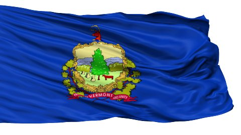 Isolated Waving National Flag of Vermont - stock footage