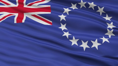Close Up Waving National Flag of Cook Islands - stock footage