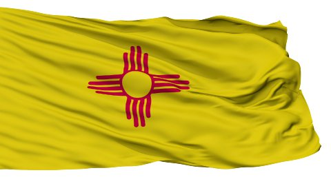 Isolated Waving National Flag of New Mexico - stock footage