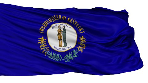 Isolated Waving National Flag of Kentucky - stock footage