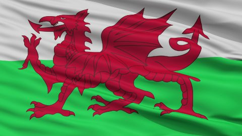 Close Up Waving National Flag of Wales - stock footage