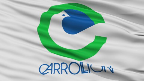 Close Up Waving National Flag of Carrollton City - stock footage