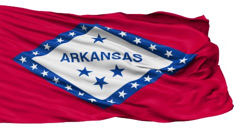 Isolated Waving National Flag of Arkansas - stock footage