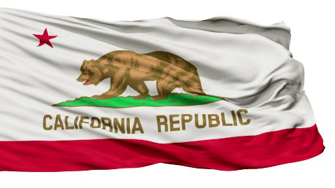 Isolated Waving National Flag of California - stock footage