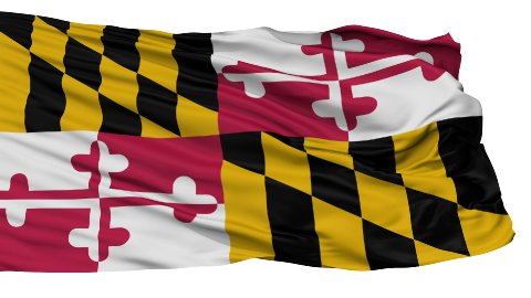 Isolated Waving National Flag of Maryland - stock footage
