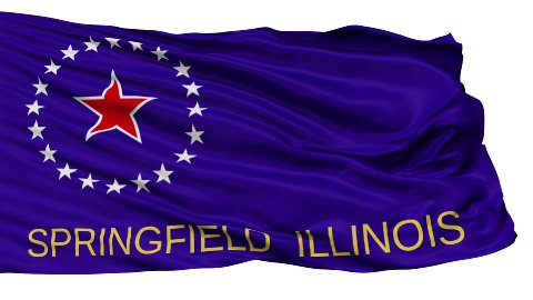 Isolated Waving National Flag of Springfield City - stock footage