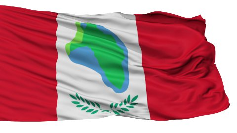 Isolated Waving National Flag of Cumberland City - stock footage