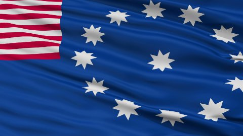 Close Up Waving National Flag of Easton City - stock footage
