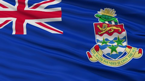 Close Up Waving National Flag of Cayman Islands - stock footage