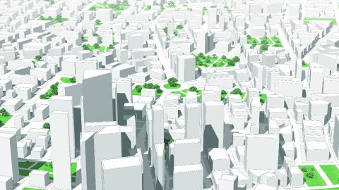 Model of the city. Seamless loop. - stock footage