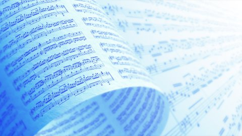 A Collection of High Quality Music Notes Texture, Background LOOP. - stock footage
