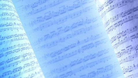Musical notes, infinity background. - stock footage