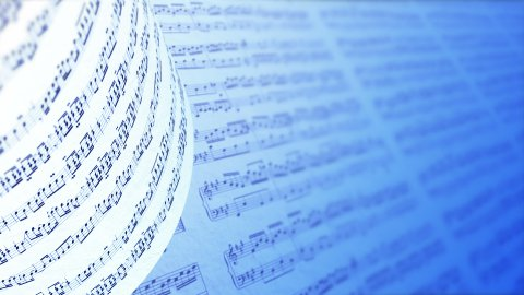 Music notes background, LOOP. - stock footage