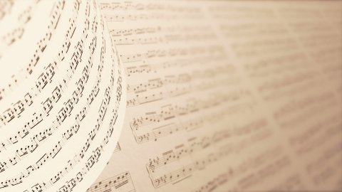 A Collection of High Quality Music Notes Texture, infinity LOOP. - stock footage