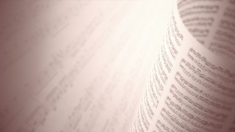 Abstract Background With The Music Book in Sepia. Seamless loop. - stock footage