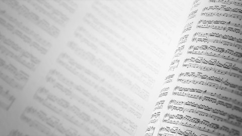 Music notes background, infinity LOOP. - stock footage