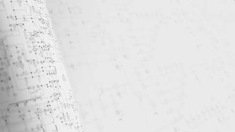 Circuit diagram background in gray. Infinity looped background. - stock footage