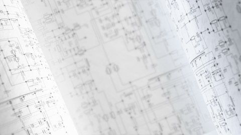 Schematics and Diagrams of the Electric Circuit. Infinity Looped Background. - stock footage