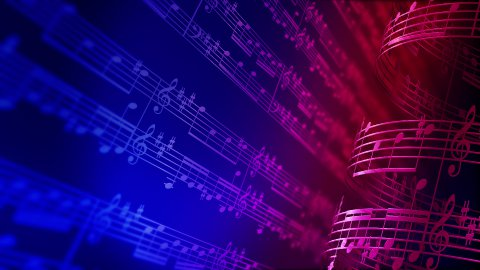 Music notes, LOOP. - stock footage