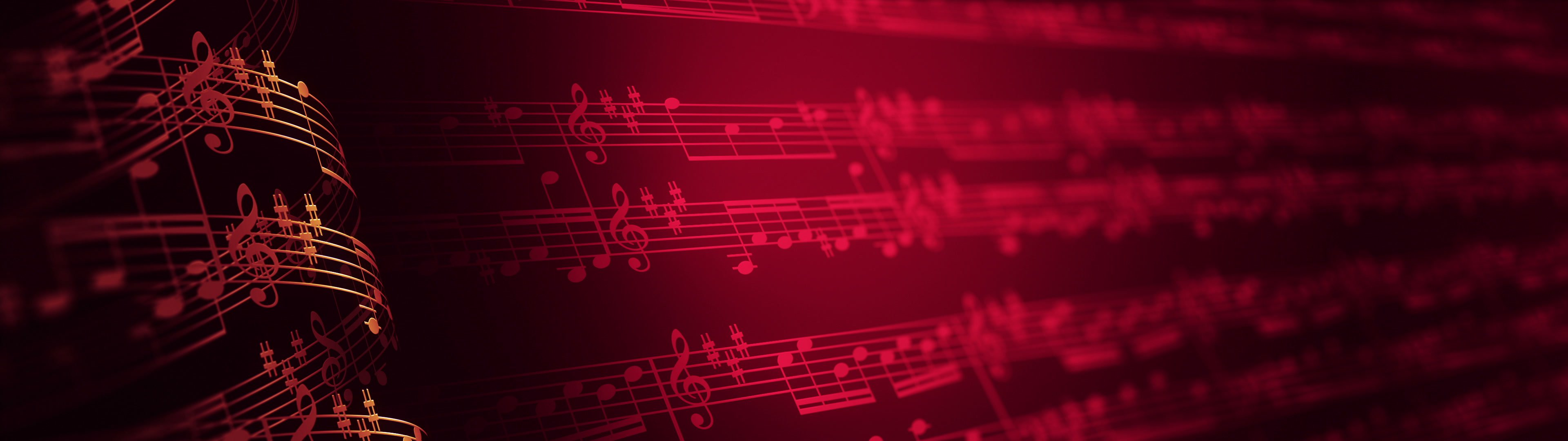 Musical notes composition background, LOOP. | Music notes symbols. Musical notes composition background. Seamless loop. Versions: 4k, Ultra HD, Full HD (1080p). - ID:23540