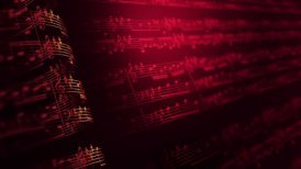 Musical notes composition background, LOOP. - motion graphic