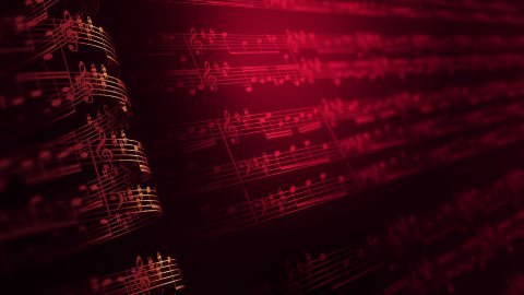Musical notes composition background, LOOP. - stock footage