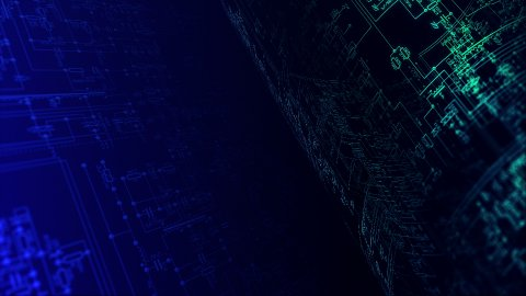 Electronic / Electric project background LOOP. - stock footage