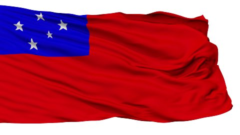 Apia City Isolated Waving Flag - stock footage