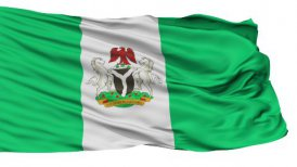 Abuja City Isolated Waving Flag