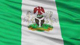 Abuja City Close Up Waving Flag