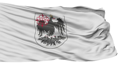 Buenos Aires City Isolated Waving Flag - stock footage