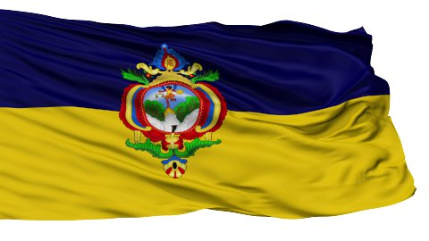 Tegucigalpa City Isolated Waving Flag - stock footage