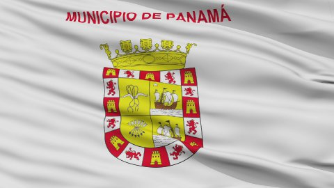 Panama City Close Up Waving Flag - stock footage
