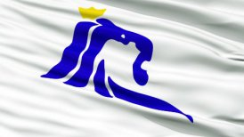 Luxembourg City Close Up Waving Flag - motion graphic
