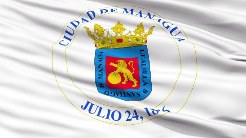 Managua City Close Up Waving Flag - stock footage