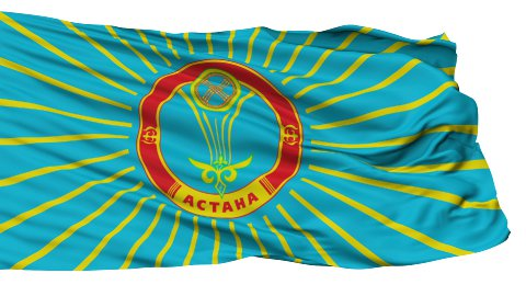 Astana City Isolated Waving Flag - stock footage