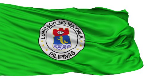 Manila City Isolated Waving Flag - stock footage