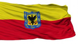 Bogota City Isolated Waving Flag