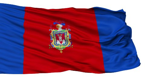 Quito City Isolated Waving Flag - stock footage