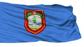 Tunis City Isolated Waving Flag