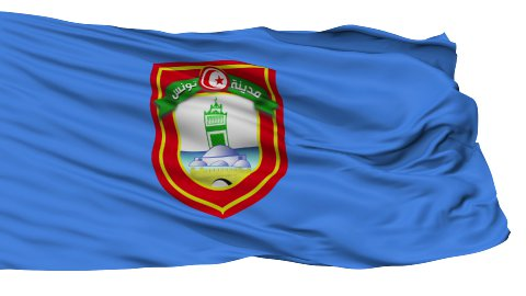 Tunis City Isolated Waving Flag - stock footage