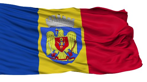 Bucharest City Isolated Waving Flag - stock footage