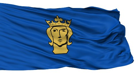Stockholm City Isolated Waving Flag - stock footage